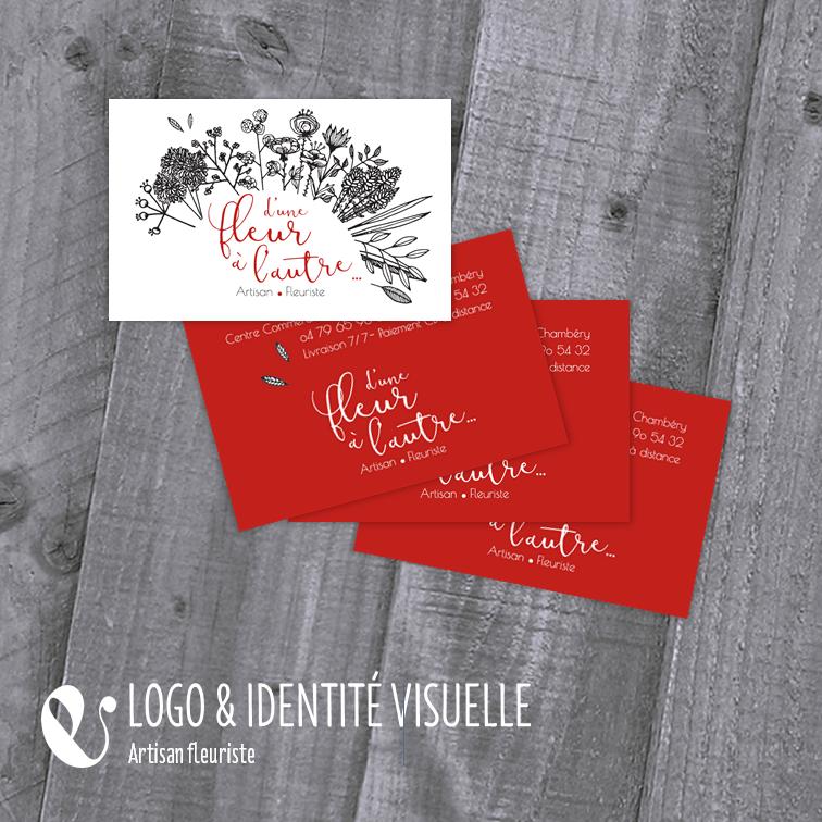 Identite Visuelle Et Cartes De Visite Pour Fleuriste Inspiree